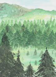 Pine Tree Mountains by shahuskies
