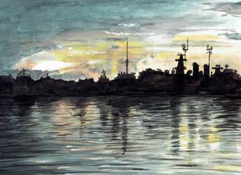 Anne Bonny's Sunset by shahuskies