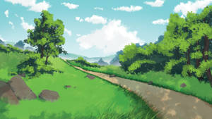 Anime Background Sketch by Oceansayre