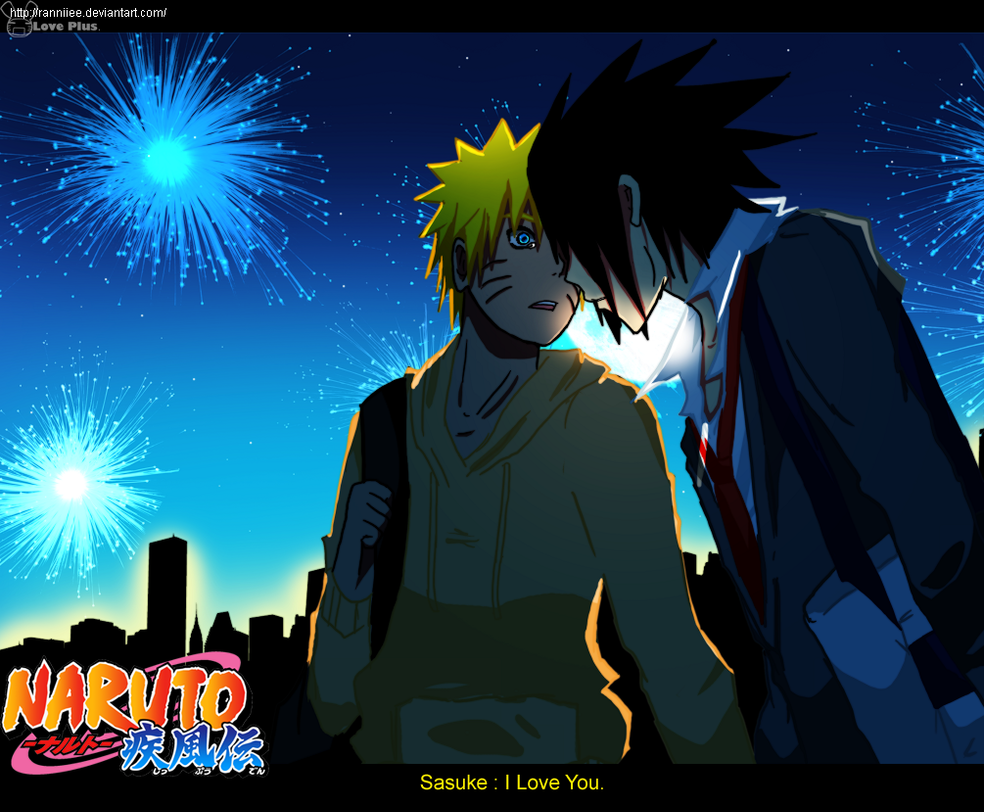 SasuNaru Over The Fireworks By Ranniiee