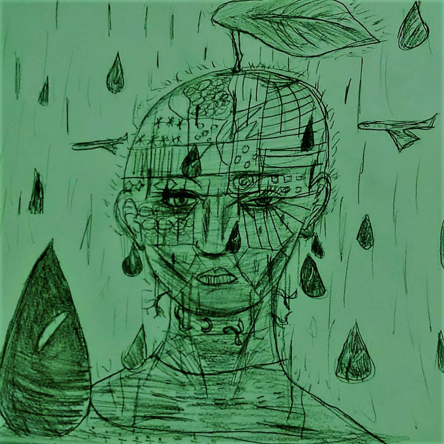 Pencil sketch 2 master of rain by blackjackriley