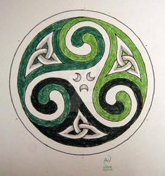 Green triskele