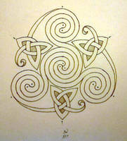 Swirling triqetra by LadyCelticRose