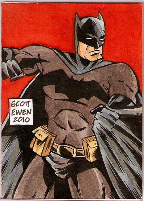 Batman sketch card