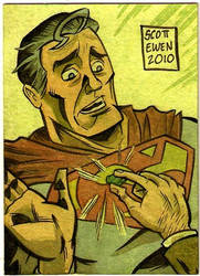 Superman sketch card color by ScottEwen