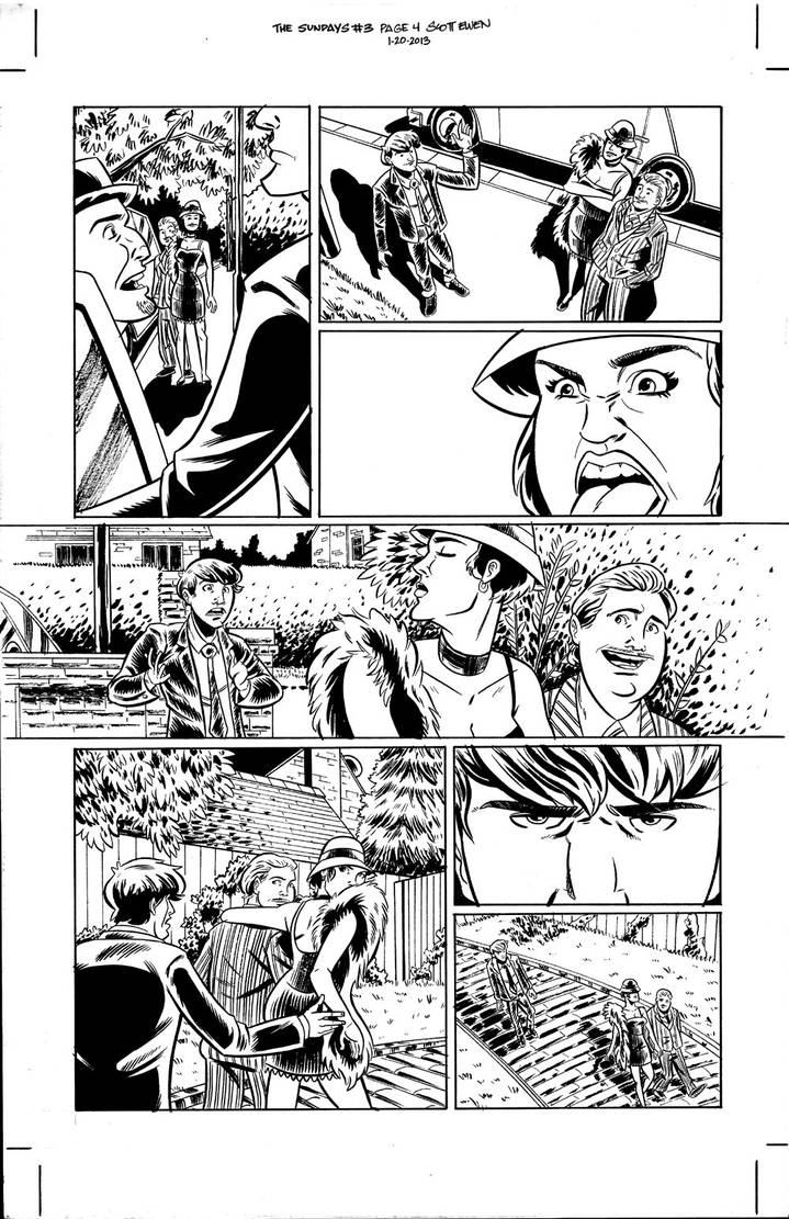 The Sundays #3 page 4 inks by ScottEwen