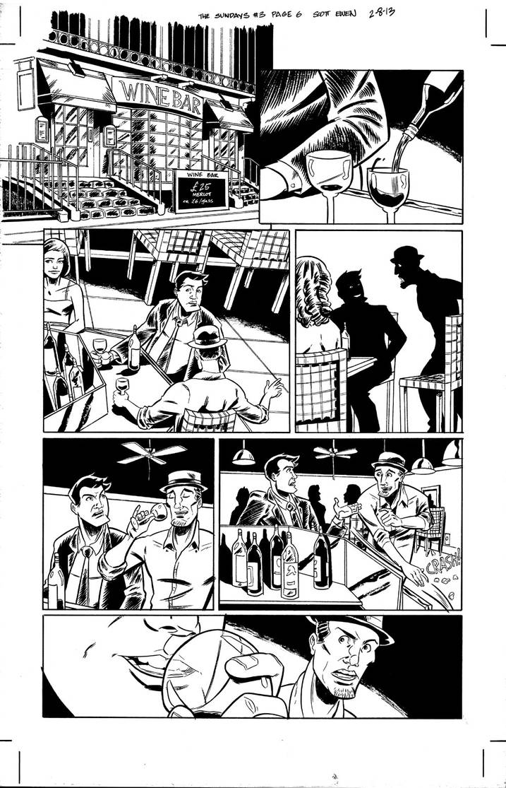 The Sundays #3 page 6 inks by ScottEwen