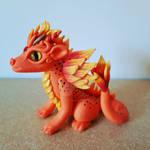 Polymer Clay Fire Dragon by LMcMenemyArtsprite