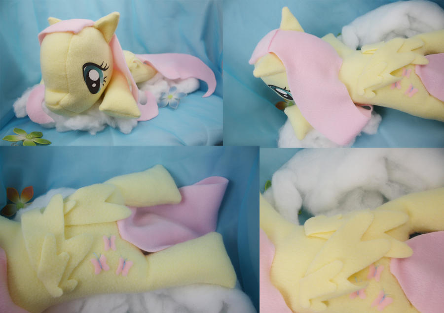Fluttershy Big Beanie Baby Plush by bluepaws21