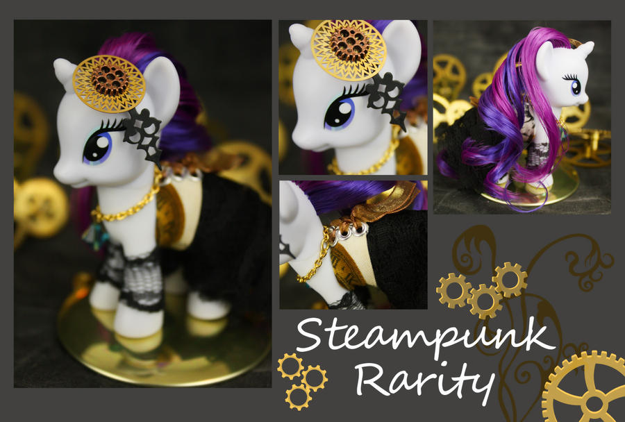 Steampunk Rarity 01 by bluepaws21
