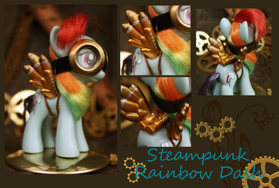 Rainbow Dash Steampunk Figure by bluepaws21