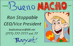 Bueno Nacho Business Card