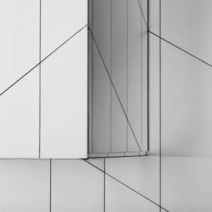 A net of silver panels