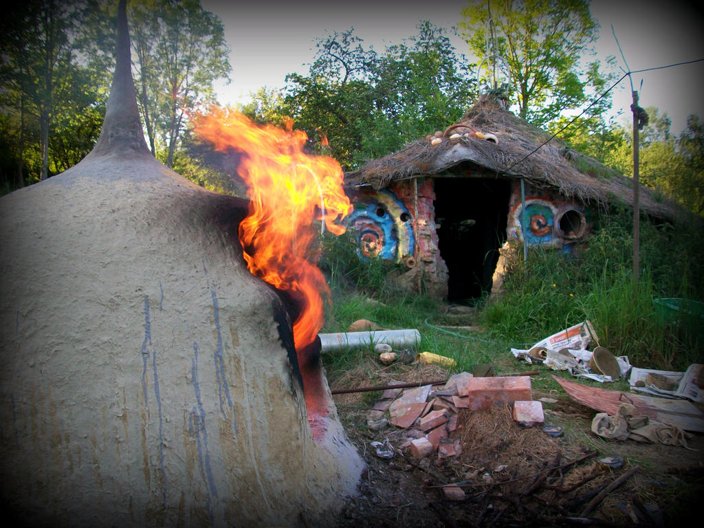 oven , heaven in the garden ..  fire by gangahimalaya