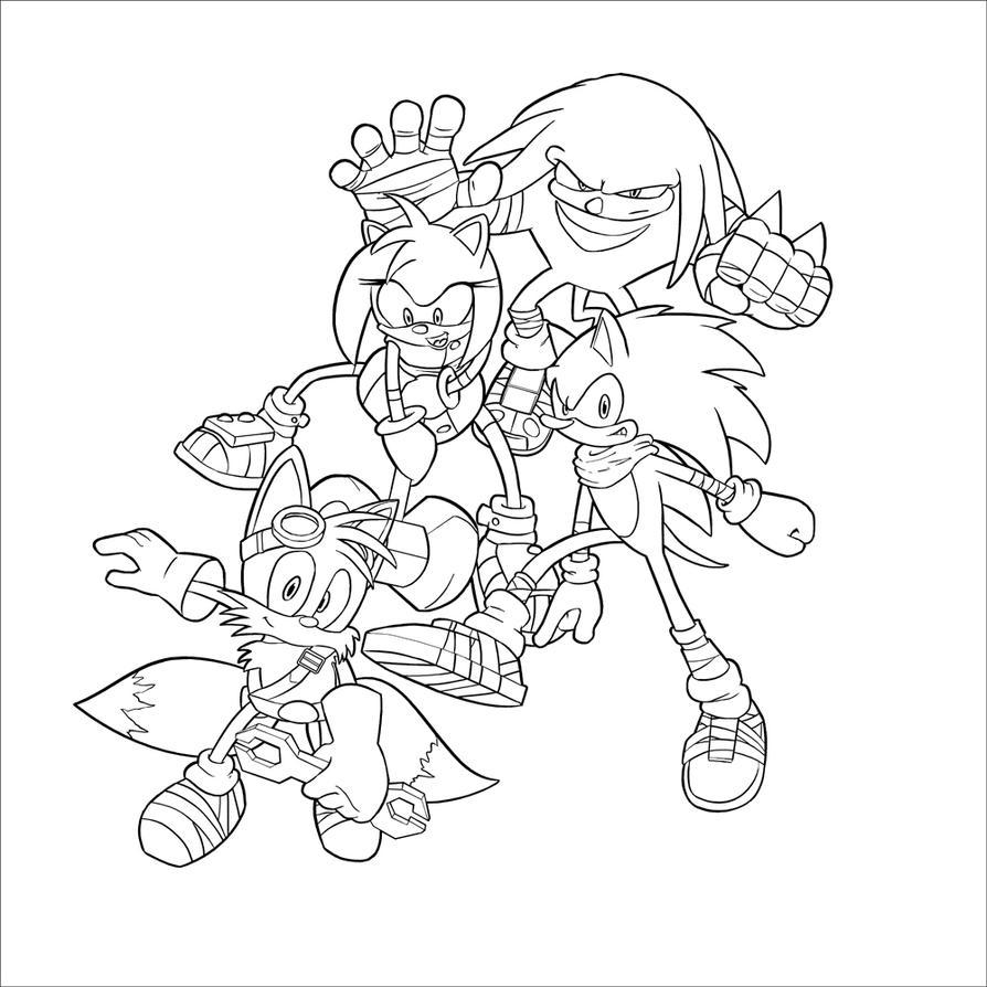 Dibujos Para Colorear Sonic Boom