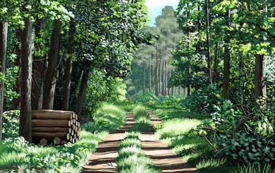 Scenery 10  - Jednorozec Forest by MatiZ1994