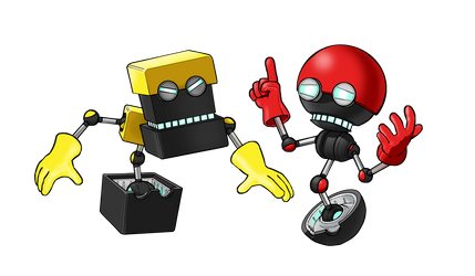 Orbot and Cubot by MatiZ1994