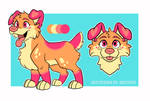 Open Adopt - Strawberry Creamsicle Pup
