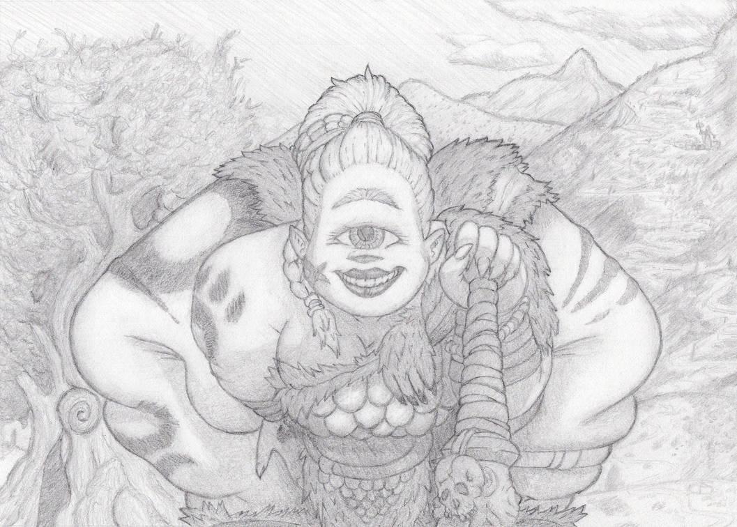 Cyclops Mercenary Aru: Caravan Guard