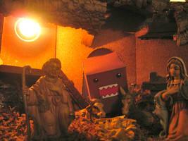 Domo-Kun meets Jesus by Andrecp