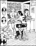 Ace at a Tiki Bar