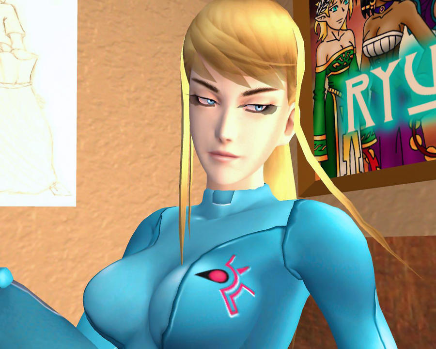 Samus Pose 7-3 by Ryu-Gi