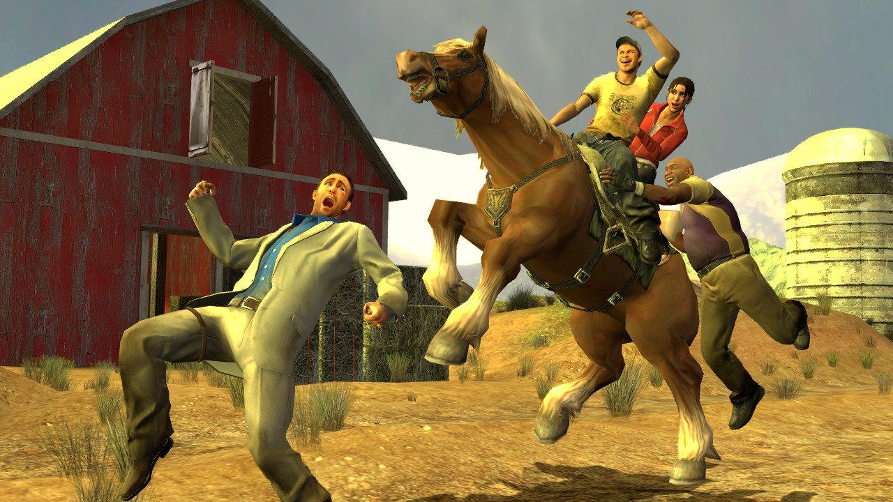 Gmod-Ellis gets his horse! - www tombraiderforums com