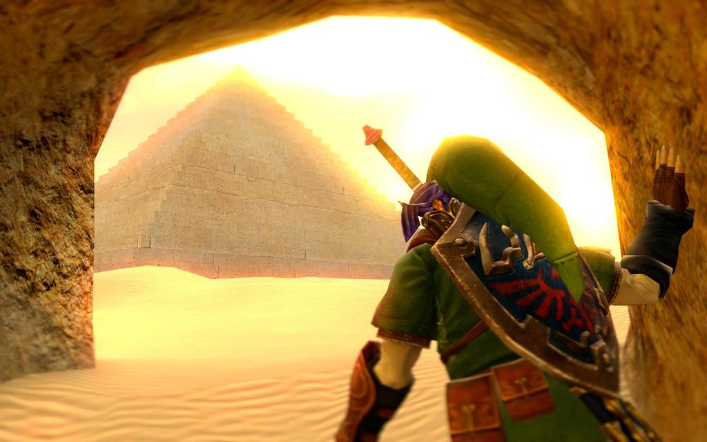 The Desert Temple Awaits by Ryu-Gi