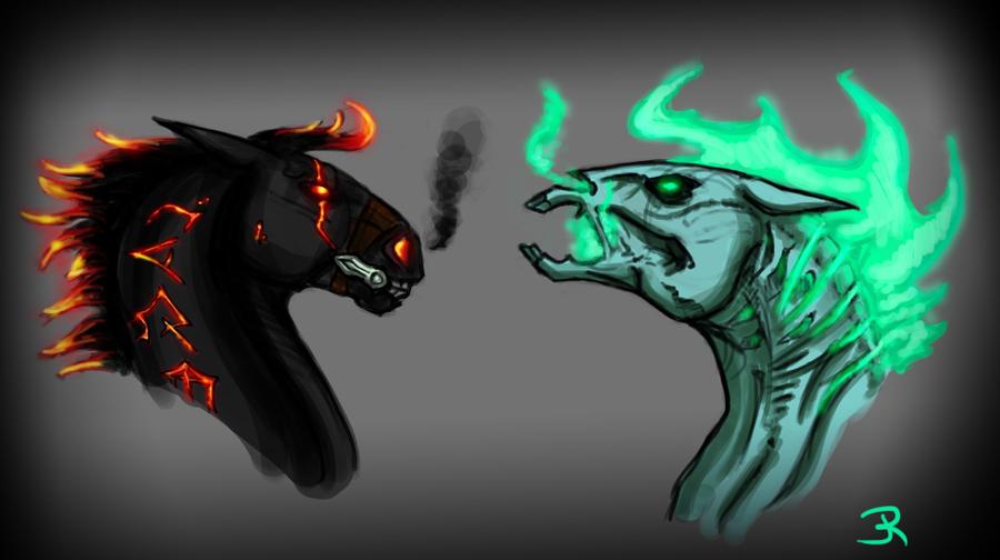 Dem Darksiders Horses by JenRos