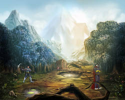 Battle Bg  by goweliang