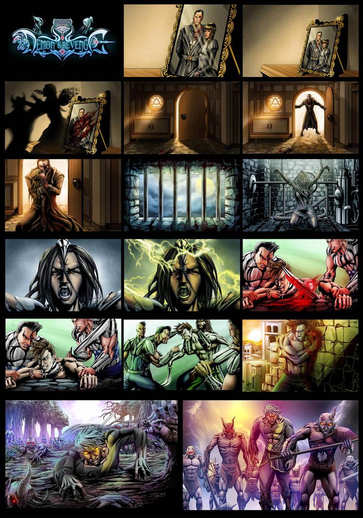 Demons Revenge Comic 2 by goweliang