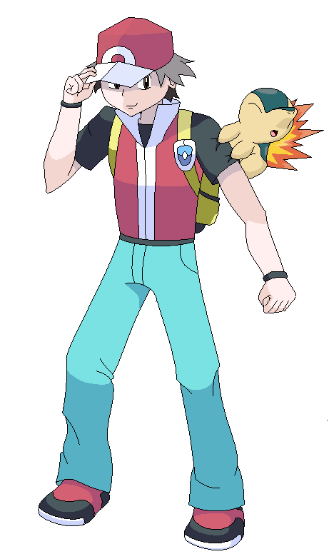 Pokemon Trainer Red And Cyndaquil By Boyiscool300 | Apps Directories