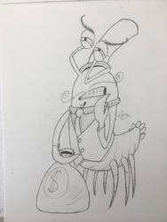 r/icandrawthat Lobster Cartoon Villain by dorontuvia123