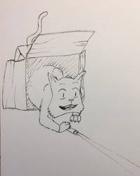 Laser Pointer Cat for r/Icandrawthat