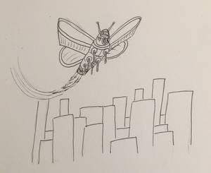 Giant robot moth for r/Icandrawthat
