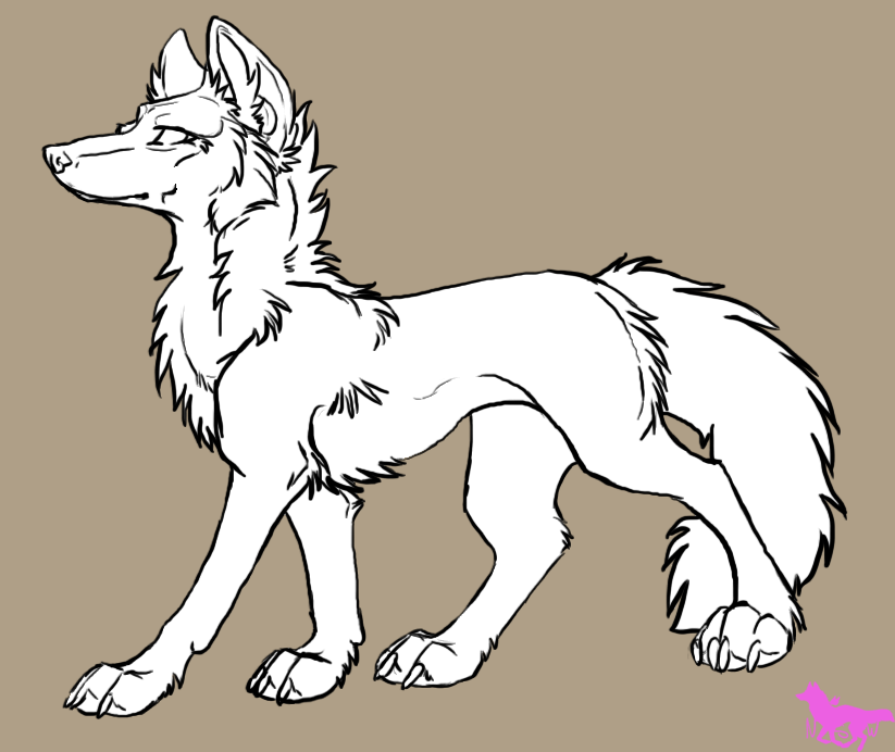 NightSpiritWing/NSW Free_wolf_lineart_by_nightspiritwing