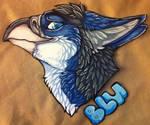 Blu headshot commission by nightspiritwing