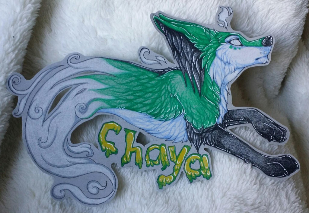 Chaya ghost badge commission by nightspiritwing