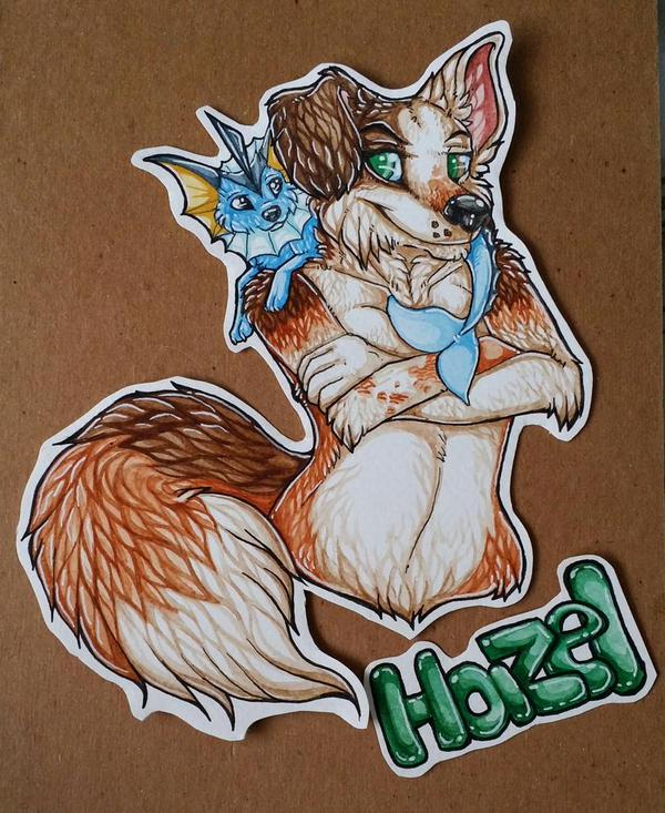 Hazel waist up badge commission by nightspiritwing