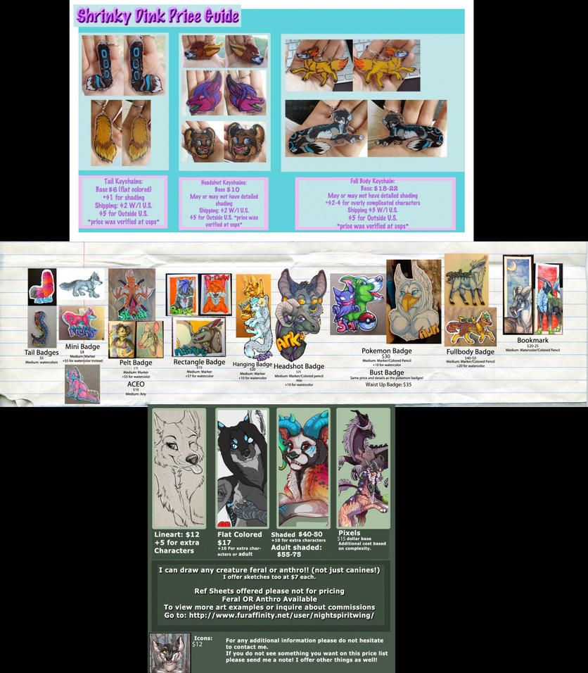 New 2015 Price Chart by nightspiritwing