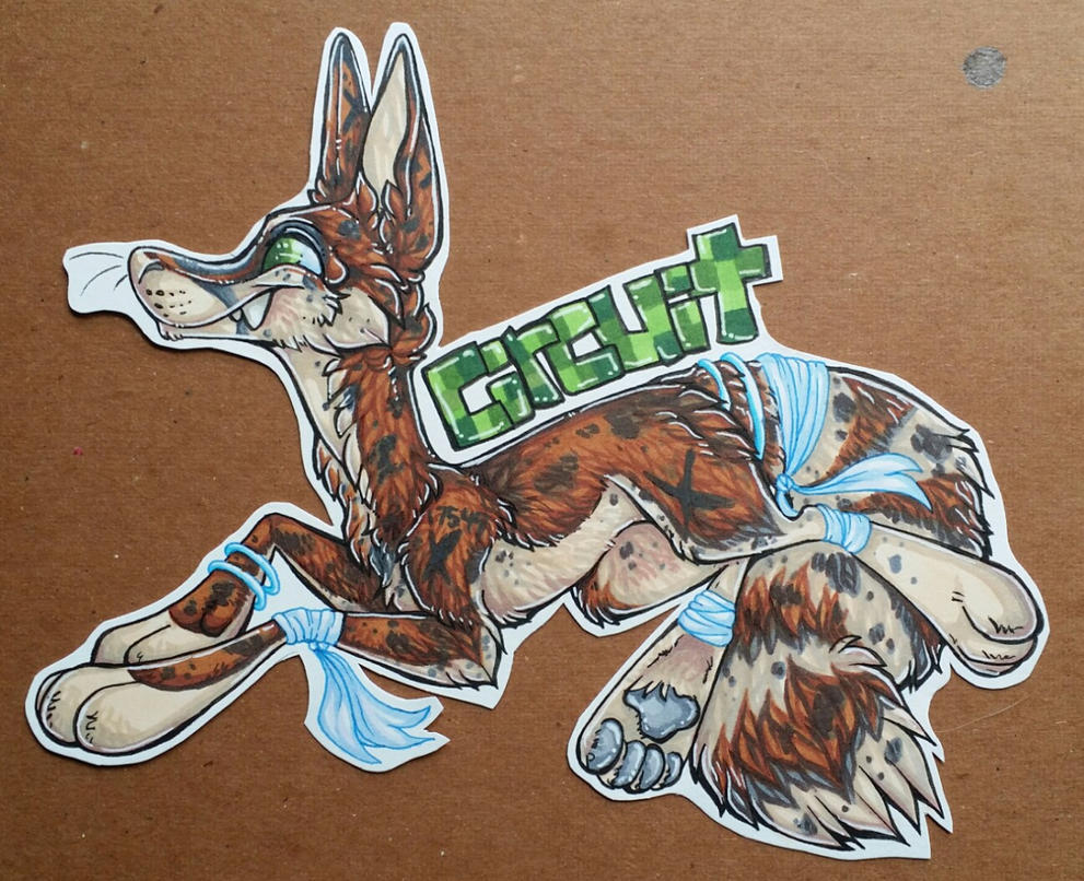Circuicat full super toon derpy badge by nightspiritwing