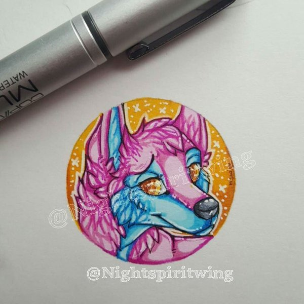 Little nighty Button test by nightspiritwing