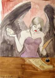Angel of Death Watercolor