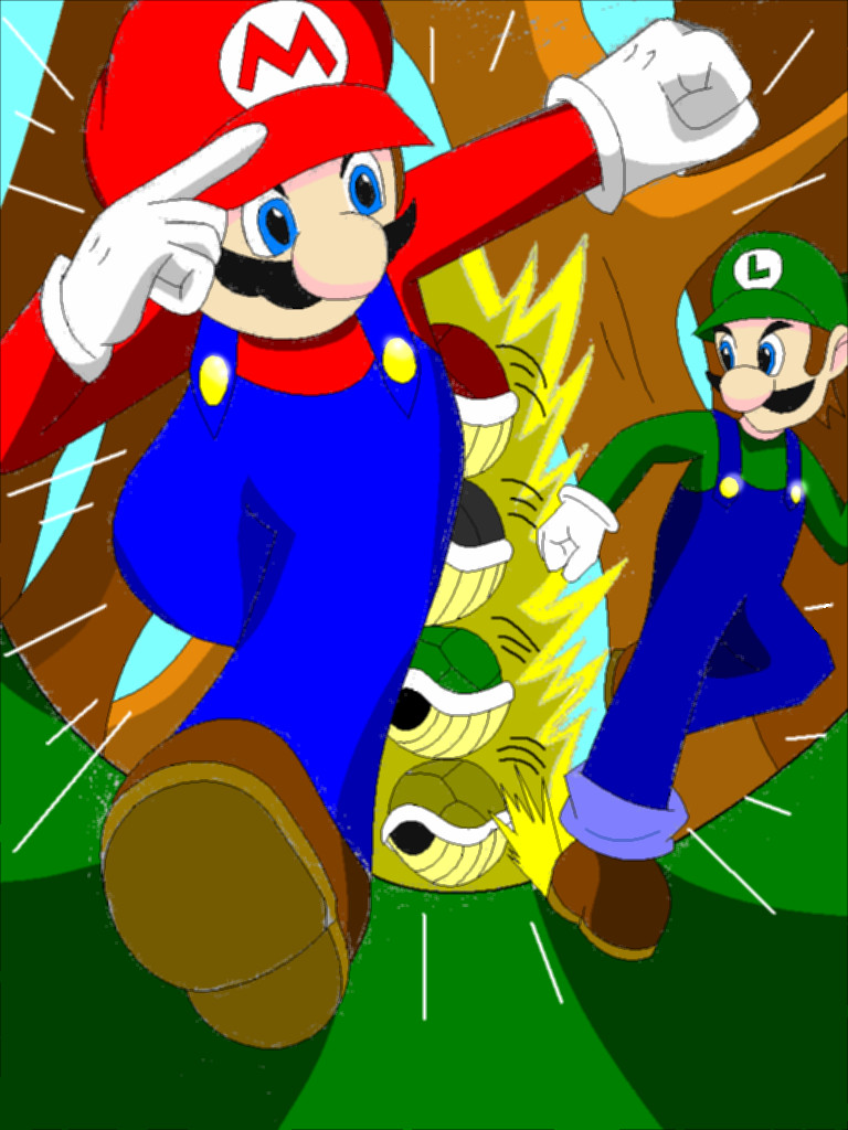 Mario and luigi color by wolftotem1 on deviantart for What color is mario