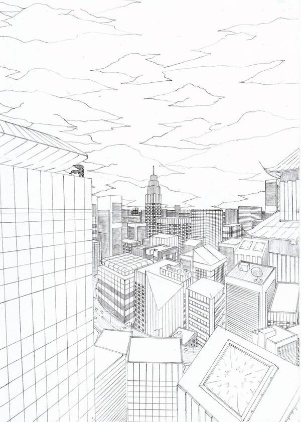 City Landscape By Blaktonz On DeviantArt