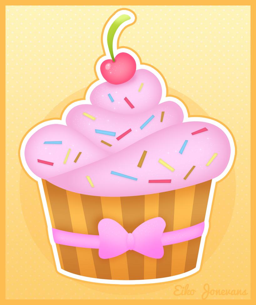 Kawaii Cupcake by eikojonevans