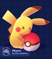 Pikachu  by eikojonevans