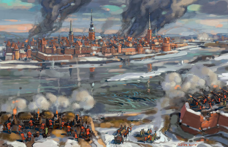The siege of Riga 1711 by art-bat
