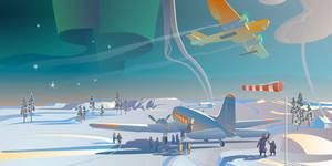 Polar aviation