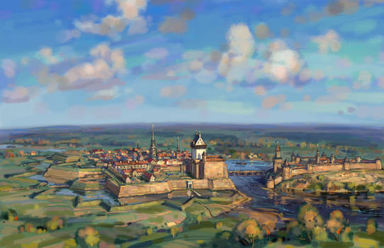 Narva and Ivangorod in the early 18th century
